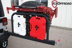 JcrOffroad, Inc. JK Wrangler Rear Tire Carrier Bumper - Deluxe www. Wrangler Jeep, Jeep Jku, Jeep Wrangler Accessories, Jeep Accessories, Jeep Tire Carrier, Jeep Camping, Camping Swag, Jimny Suzuki, Jeep Bumpers
