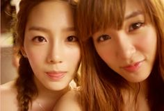 Taeyeon & Tiffany of Girls' Generation. These goddesses... I can't.