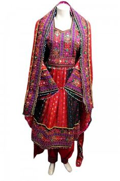 Afghan Dress With Mirrors Work Fancy Bridal Clothing Costume Outfits Robe