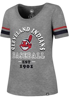 9e8bfb38a5e67  47 Cleveland Indians Womens Fantasy Grey Scoop T-Shirt Cleveland Indians  Hat