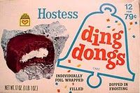 Foil wrapped Hostess Ding Dongs...They tasted better back then.