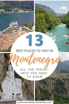13 Best Places to Visit in Montenegro. All the info you need to know about travel in Montenegro, including information on what to see, what to do and where to stay in Montenegro. A complete list… Europe Destinations, Europe Travel Guide, Travel Info, Travel Guides, Cheap Travel, Best Places To Travel, Cool Places To Visit, Vacation Places, Vacation Ideas