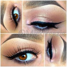 Mac PARADISCO eyeshadow on lid, lightly covered by Mac Reflects Glitter in Gold--Marty's wedding make up! Beautiful Eye Makeup, Love Makeup, Beauty Makeup, Beauty Tips, Perfect Makeup, Pretty Makeup, Beautiful Eyes, Winged Eyeliner Tutorial, Winged Liner