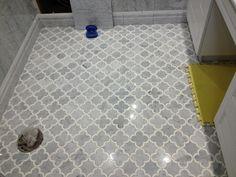 Merveilleux Edmonton Tile Install U2013 White Marble Bathroom
