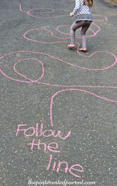 Sidewalk chalk games for kids. Fun outdoor play in spring, summer, and fall.