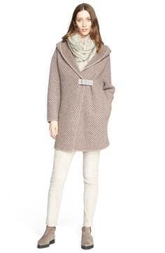 Fabiana Filippi Hooded Honeycomb Bouclé Knit Cardigan available at #Nordstrom