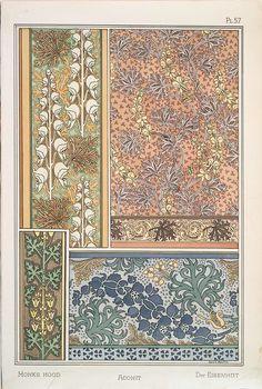 Eugène Grasset (Swiss, 1841-1917). La plante et ses applications ornementales. Monks Hood. Pl. 57. 1896.