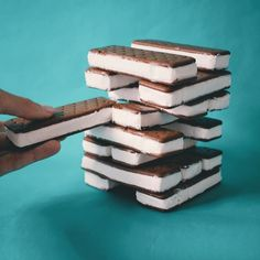A fun new game to play at your next party is Jenga, but with Ice Cream Sandwiches. It makes the game about 110% more delicious, up previousl...