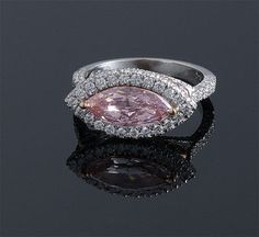 Marquise Fancy Pink Diamond Ring
