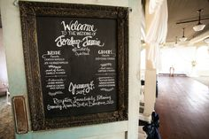 Alternative to the wedding program that no one will read anyway... Less expensive, less paper, more decor, and more attention!