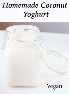 Homemade Coconut Yoghurt recipe. This recipe is amazing. Completely dairy-free, vegan and totally delicious. Perfect for breakfast or even as a dairy substitute in recipes.