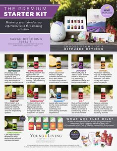 The BRAND NEW Young Living Premium Starter Kit! Plus, just over $20.00 worth of gifts, a 14 day Members Only E-Course AND access to our Oil Moxie support system when you use me as your referral source! You'll have everything you need to start using essential oils!