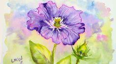 Clematis in Watercolor Tutorial #lovesummerart