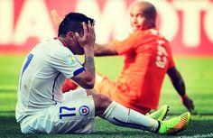 Chile no pudo vencer a Holanda y espera a Brasil en octavos de final