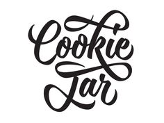 Cookie Jar designed by Mika Melvas. Connect with them on Dribbble; Brush Script, Brush Lettering, Lettering Design, Calligraphy Words, Typography Letters, Cookies Web, Jar Design, Fancy Letters, Drawing Letters