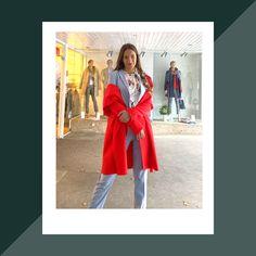 Mit diesem Businessoutfit von comma stiehlst du deinen Kollegen schon am Morgen die Show. Der leichte Blauton gibt sich dabei unauffällig und diskret. Perfekt kombiniert wird dieser Business-Zweiteiler mit dem kräftigen rot des lässiges Mantels mit Cosy Touch und gerafftem Schalkragen. Hilfiger Denim, Red Leather, Leather Jacket, Business Outfit, Blazer, Mantel, Jackets, Outfits, Collection