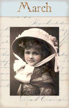 "Victorian ""Calender Girls"" ~ March"