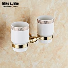 Brass golden color tumbler cup holder toothbrush holder bathroom accessory sanitary ware bathroom furniture toilet #Affiliate