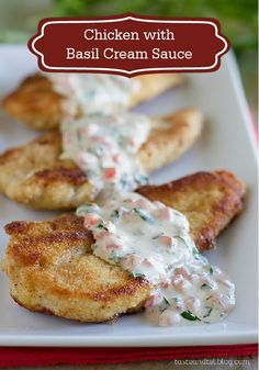Your family will love this Chicken with Basil Cream Sauce dinner recipe! This is a delicious meal for the fall and one they'll ask for again and again!