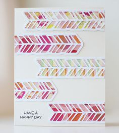 Patterned Chevron Card | Kalyn Kepner for Silhouette