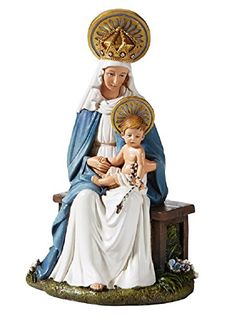 """Seated Madonna and Child Statue, Size: 6-1/2"""" H. AT001 https://www.amazon.com/dp/B074Q21MFK/ref=cm_sw_r_pi_dp_x_poWhAbG9PRP1D"""