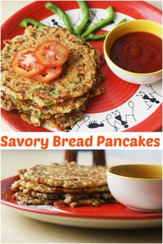 Bread pancakes or bread Uttapam are a very healthy and tasty option for breakfast. It is one of my favorite breakfast recipes. These Bread Pancakes always remind me of Sundays when I was a kid. Chicken Recipes For Kids, Baby Food Recipes, Indian Food Recipes, Cooking Recipes, Pancake Recipes, Indian Snacks, Toddler Recipes, Veg Recipes, Kitchen Recipes