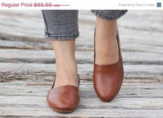 Valentines Day Sale 20%, Free Shipping, Brown Leather Shoes, Brown Shoes, Loafers, Flat Shoes, Slip Ons