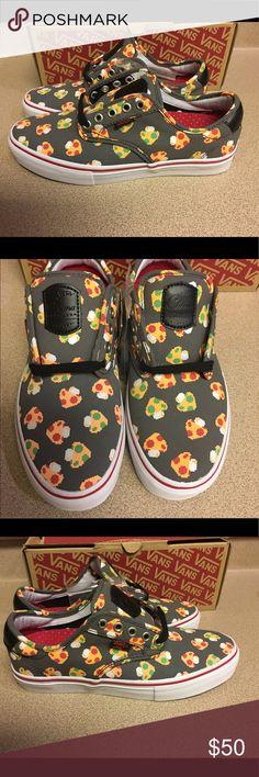 VANS Chima Ferguson Nintendo Mushrooms Men's Sz 7 VANS Chima Ferguson Pro Nintendo Mushrooms Grey Shoes Men's Size 7 New In Box Vans Shoes Sneakers