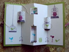 Aviary Popout Fun Fold by krissiev - Cards and Paper Crafts at Splitcoaststampers