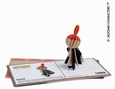 Little My Moomin Troll – Postcard & Decoration Great gift to send as Little My comes package as a postcard, with instructions to make a model. Little My is a Moomin character created by Tove Jansson, a Finnish author, artist and illustrator. Little My Moomin, Tove Jansson, Troll, Bookends, Illustrator, Great Gifts, Author, 3d, Decoration