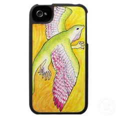 Winged Anole iPhone 4 Speck Case - $47.95 at Zazzle.com #lizard #anole #fantasy #art #iphone