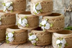 Wedding Table Décor, Burlap Wedding Napkin Rings, Rustic Wedding Napkin Holders, Wooden Napkin Rings - pinned by pin4etsy.com