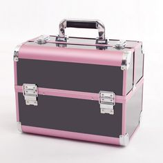 Hot Selling Makeup Organizer Jewelry Box,Large Cosmetic Bags Suitcase Make  Up Storage Box,