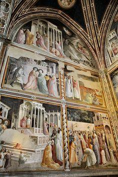 Florence Basilica of Santa Croce Fresco #TuscanyAgriturismoGiratola