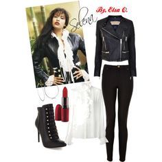 A fashion look from December 2014 featuring shirt blouse, 100 leather jacket and Lanvin. Browse and shop related looks. Selena Quintanilla Outfits, Selena Quintanilla Halloween Costume, Selena Quintanilla Birthday, Selena Costume, 90s Fashion, Fashion Outfits, Icon Fashion, Fashion Guide, School Fashion