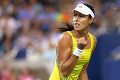 Ana Ivanovic of Serbia celebrates a point in her third round women's match against Sloane Stephens during Day Six of the 2012 US Open