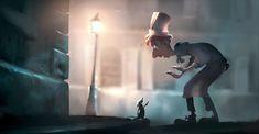 Dominique R. Louis and Robert Kondo, Concept Art, Lighting Study: The Seine, Ratatouille (2007), digital painting. Photo: courtesy of Pixar Animation Studios.