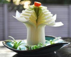 sculpture-fruit-legume-poireau-idée-décorative