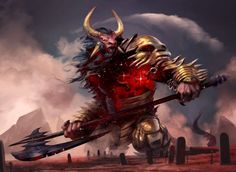 """Mogis, God of Slaughter"" by Pete Mohrbacher 