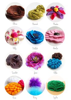 How to make all sorts of pretty flowers!