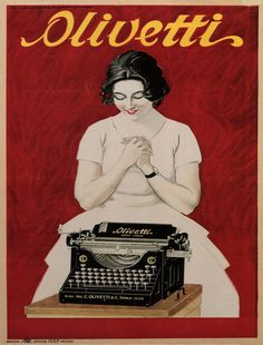 Olivetti, Typewriter, Vintage Poster, by Marcello Dudovich