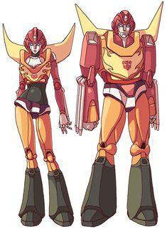 HotRod and. by GreenWild on DeviantArt Transformers Girl, Original Transformers, Robot Concept Art, Robot Art, Sketches Tutorial, Undertale Cute, Robot Design, Drawing Reference Poses, Marvel Legends