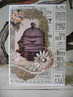 EfemeraInk: Vintage card idea/collage