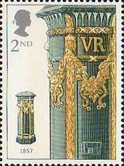 150th Anniversary of the First Pillar Box 2nd Stamp (2002) Green Pillar Box…