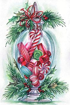 Retro recipes found in vintage ads. Christmas Past, Christmas Candy, Christmas Greetings, Christmas Holidays, Christmas Crafts, Christmas Decorations, Christmas Shopping, Vintage Christmas Images, Retro Christmas