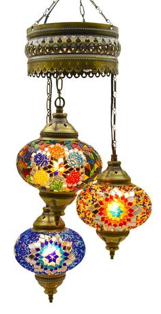(Choose from 5 Designs) Turkish Moroccan Mosaic Glass Chandelier Lights Hanging Ceiling Tiffany Lamp, Large (C) Moroccan Chandelier, Lampshade Chandelier, Moroccan Lighting, Moroccan Lamp, Moroccan Lanterns, Pendant Chandelier, Pendant Light Fixtures, Ceiling Pendant, Chandelier Lighting