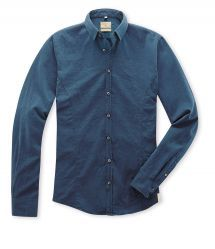 Q1 Hemd Steve Fein-Fischgrat in Blau in 100% Baumwolle Shirt Dress, Mens Tops, Shirts, Shopping, Dresses, Fashion, Fall Winter, Blue, Cotton
