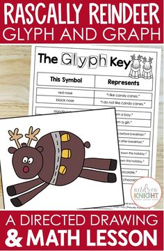 Christmas Math, Christmas Activities For Kids, Listening And Following Directions, Directed Drawing, Drawing Lessons, Glyphs, Math Lessons, Math Activities, Reindeer