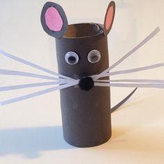 Petite souris en rouleau de papier toilette WC #bricolage #rouleaupq #activites #enfants