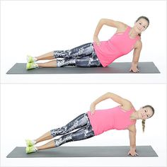 Reps: 12 on each side  Start lying on your left side with your weight on your elbow. Your legs are almost s...
